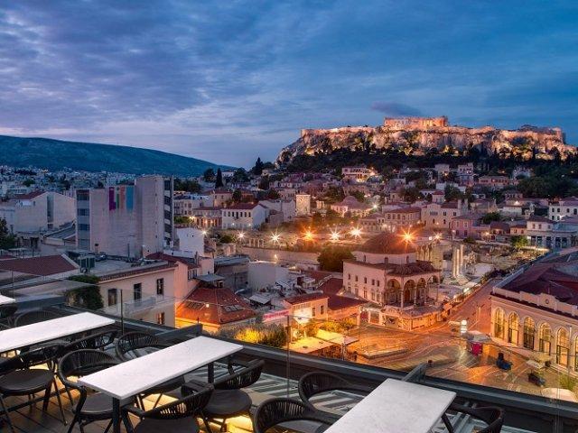 Hotéis no centro turístico de Atenas
