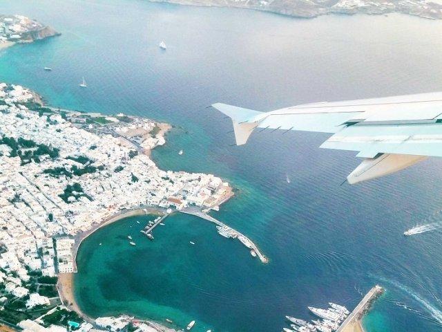 Tempo de avião até Mykonos
